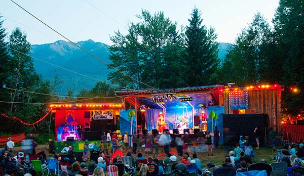 2012 Festival by the Fraser with Cariboo Mountain backdrop