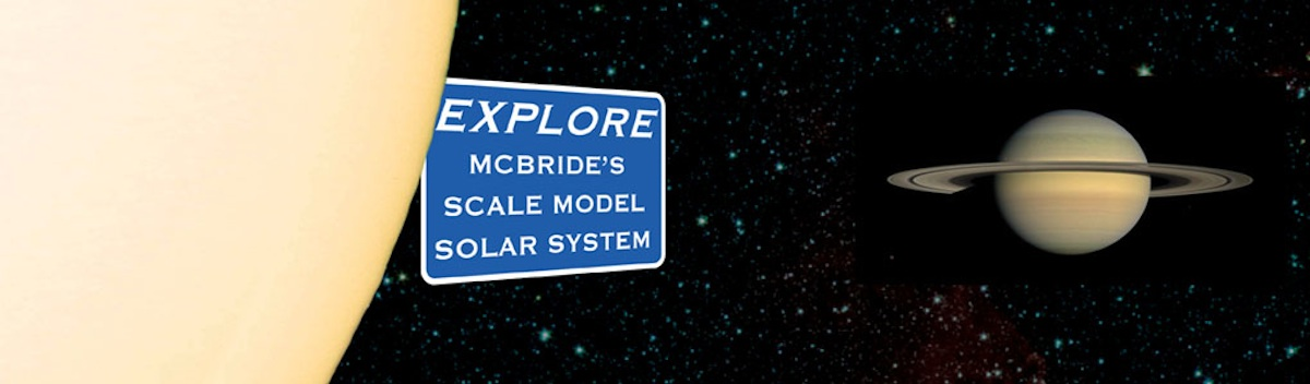 McBride's Scale Model Solar System | The Robson Valley, B C